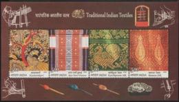 INDIA-2009   MINIATURE SHEET  / TRADITIONAL INDIAN TEXTILES - India