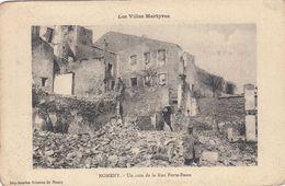 Cp , 54 , NOMÉNY , Les Villes Martyres , Un Coin De La Rue Porte-Basse - Nomeny