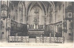 EGLISE DE VINCEY . DECORATION MINOUX , MENIL-EN-XAINTOIS . ECRITE AU VERSO LE 4-3-1934 - Vincey