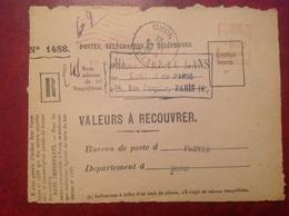 Devant EMA Fretin PTT Mutuelle Du Mans - Marcophilie (Lettres)