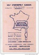 BUVARD . LES UNIFORMES GALLIA . GENDARMERIE ET GARDE RÉPUBLICAINE . MARSEILLE - Réf. N°13F - - Textile & Clothing