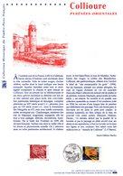 """"""" COLLIOURE """" Sur  Document Philatélique Officiel De 2002  N° YT 3497. DPO (Prix à La Poste = 5.00 €) - Postdokumente"""