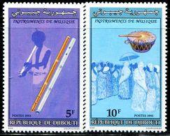 BW0476 Djibouti 1993 National Musical Instrument 2V MNH - Musik