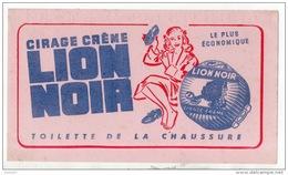 BUVARD . CIRAGE CRÈME LION NOIR . TOILETTE DE LA CHAUSSURE - Ref. N°309F - - Automotive