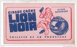 BUVARD . CIRAGE CRÈME LION NOIR . TOILETTE DE LA CHAUSSURE - Ref. N°310F - - Automobile