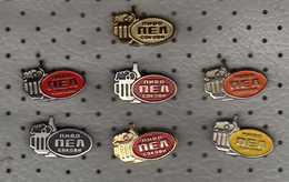 "Lot - 7 Pins Motive Beer/bière/Bier.,,PEL"" - Bitola - Macedonia - Beer"