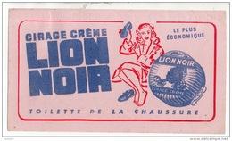 BUVARD . CIRAGE CRÈME LION NOIR . TOILETTE DE LA CHAUSSURE - Ref. N°311F - - Automobile