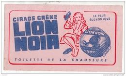 BUVARD . CIRAGE CRÈME LION NOIR . TOILETTE DE LA CHAUSSURE - Ref. N°312F - - Automotive