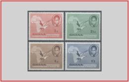 Ghana 1957 - Cat. 10/13 (MNH **) Presidente Nkrumah - President Nkrumah (010757) - Ghana (1957-...)