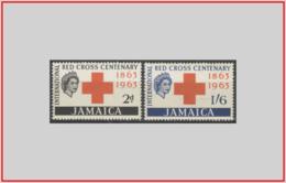 Giamaica Jamaica 1963 - Cat. 210/11 (MNH **/os) Croce Rossa - Red Cross (leggera Ossidazione) (010928) - Jamaica (1962-...)