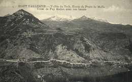 HAUT VALLESPIR  Vallée Du Tech , Route De Prats De Mollo Usine De Puy Redon Avec Son Bassin RV - France