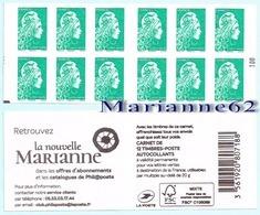 "France 2018 Carnet Marianne LV 20g - Marianne L'engagée - "" La Nouvelle Marianne "" - MHN Neuf - Carnets"