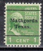 USA Precancel Vorausentwertung Preo, Locals Texas, Matagorda L-1 TS - Vereinigte Staaten
