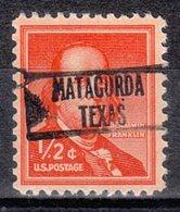 USA Precancel Vorausentwertung Preo, Locals Texas, Matagorda L-3 HS - Vereinigte Staaten