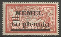 Memel (Klaipeda) - 1920 Merson Overprint  60pf/40c MH *   Mi 24  Sc 24 - Unused Stamps