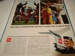 ANCIENNE PUBLICITE EN VACANCE AVEC LE TRIDENT BEA 1967 - Advertisements