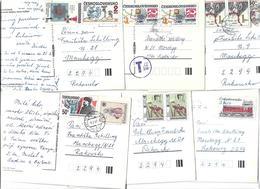 5028n: CSSR, 6 AKs, Nach Österreich Gelaufen - Collections, Lots & Series