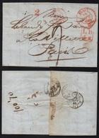 BALE - SUISSE / 1845 LAC ENTREE PAR BELFORT POUR PARIS (ref 6128) - Postmark Collection (Covers)