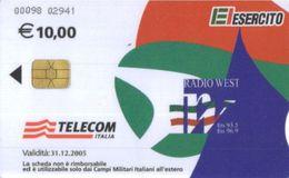 *C&C US12 SCHEDA TELEFONICA USATA A CHIP ESERCITO RADIO WEST 00098 - Italia