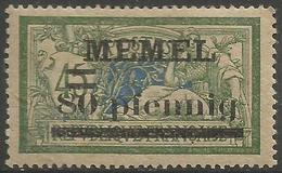 Memel (Klaipeda) - 1920 Merson Overprint  80pf/45c MH *   Mi 25a  Sc 25var - Unused Stamps