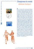 """"""" ATHLETISME HANDISPORT """" Sur Document Philatélique Officiel De 2002 N° YT 3495 (Prix à La Poste = 5.00 €) DPO - Handisport"""