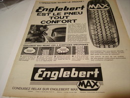 ANCIENNE PUBLICITE PNEU ENGLEBERT MAX  1963 - Transportation