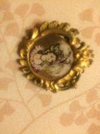 Spilla Brooch Sporrong & Ci Dipinta A Mano Con Dama Firmata Miniatura Antica - Spille