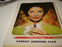 ANCIENNE PUBLICITE CHINA RED HARRIET HUBBARD AYER 1963 - Other