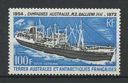 TAAF 1973 PA N° 29 ** Neuf MNH Superbe C 37 € Bateaux  Galliéni Boats Ships Transports - Airmail
