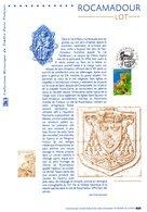 """(Prix à La Poste = 5 €). """" ROCAMADOUR """" Sur Document Philatélique Officiel De 2002 N° YT 3492. - 2000-2009"""