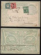 TAXE D'URUGUAY SUR LETTRE / 1906 LETTRE D'ARGENTINE POUR MONTEVIDEO (ref LE2423) - Uruguay