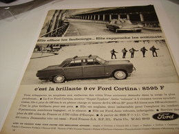 ANCIENNE PUBLICITE VOITURE FORD CORTINA 1963 - Cars