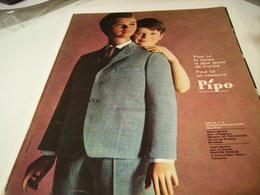 ANCIENNE PUBLICITE VETEMENT PIPO DE LA JEUNESSE 1963 - Vintage Clothes & Linen