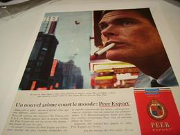 ANCIENNE PUBLICITE  NOUVEL AROME CIGARETTE PEER EXPORT 1963 - Tabac (objets Liés)