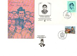 Argentina FDC Salesiani Don Bosco San Giovanni Bosco E Ceferino Namuncura - FDC