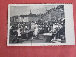 RPPC Market Scene- Tear On Bottom Denmark- Has Stamp & Cancel  Ref 3036 - Danemark