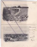 Afrique ; Djibouti.Pont Du Hol-Holl,avec Passage D'un Train Et Quartier Somal .Lot De 2 Cartes(carte Précurseur De 1904) - Djibouti