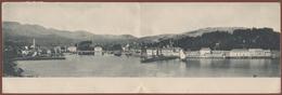 CROATIA, ISLAND HVAR-JELSA DOUBLE PICTURE POSTCARD 1923 RARE!!!!!!!!!!! - Croatia