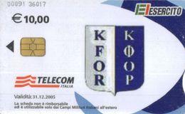 *C&C US9 SCHEDA TELEFONICA USATA A CHIP ESERCITO KFOR 00091 - Italia