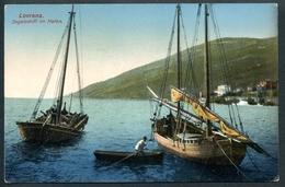 Lovrana, Segelschiff Im Hafen, Um 1915,  R.E.C.A., Abbazia, 1020 - Croatia