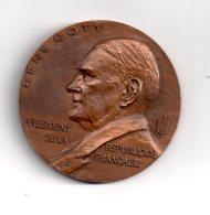 Médaille René Coty -Président De La République - Gravé Par Coeffin- Voir état - France