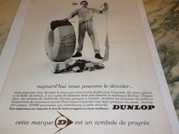 ANCIENNE PUBLICITE PROJET CONCORDE  PNEU DUNLOP 1967 - Transportation