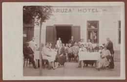 "CROATIA, PETRINJA-HOTEL ""RUZA"" REAL PHOTO PICTURE POSTCARD 1929 RARE!!!!!!!!!!! - Croatia"