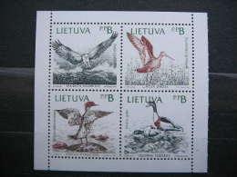 Birds Of The Baltic # Lietuva Litauen Lituanie Litouwen Lithuania # 1992 MNH # Mi. 501/4 - Lituania