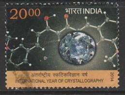 India 2014 International Year Of Crystallography 20.00 R Multicoloured SW 2813 O Used - India