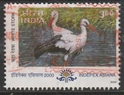 India 2000 Indepex 2000 International Stamp Ex, Calcutta - Migratory Birds 3.00 R Multicoloured SW 1768 O Used - India
