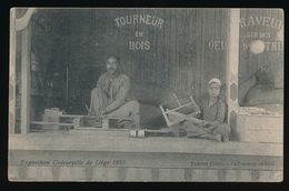 LIEGE  EXPO DE LIEGE 1905 - EXTREME ORIENT  LE TOURNEUR EN BOIS - !!! NOGAL SLAPPE KAART - Luik