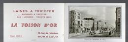 Bordeaux (33 Gironde) Calendrier 1959 LA TOISON D'OR Laines à Tricoter (PPP14409) - Calendars