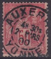 Auxerre (Yonne) : Cachet à Date Type 84 Horaire Sur Sage - Marcophilie (Timbres Détachés)