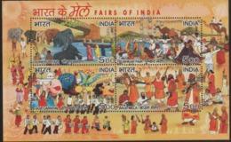 INDIA-2007   MINIATURE SHEET  / FAIRS OF  INDIA / PUSHKAR MELA/SONEPUR MELA /GOA CARNIVAL / BAUL MELA - India